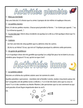 French Immersion: Mon autobiographie