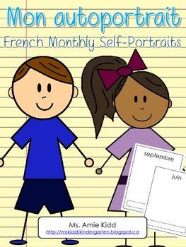 Mon autoportrait - French Monthly Self-Portraits