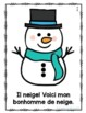 Mon bonhomme de neige (French Emergent Reader)
