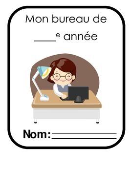 Mon bureau de Francais / My French Mini-office