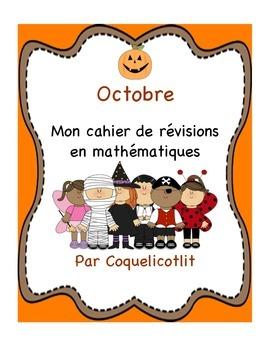 Mon cahier de révisions - octobre