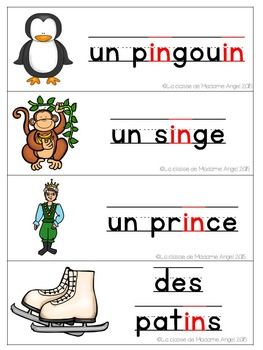 French Phonics Activities: Mon cahier des sons {in}