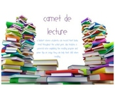 Mon carnet de lecture / French Reading Log