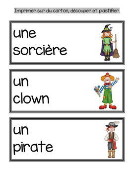 Mon déguisement mathématique et français