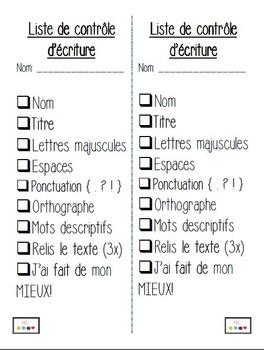 Mon dossier d'écriture (par mois et par saison)/ FRENCH Writing Portfolio