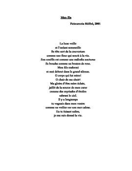Mon fils poem by Fatoumata Sidibe