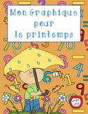 Mon graphique pour le printemps (Spring Graphing) -- French Math Activity