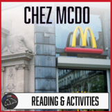 Chez McDo - a short reading w/text-dependent questions