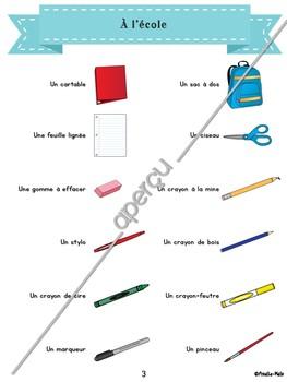 Mon imagier / référentiel en français