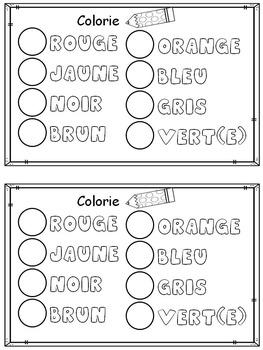Mon lexique des couleurs