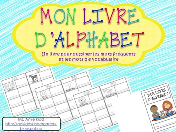 Mon livre d'alphabet - Primary French Personal Visual Dictionary