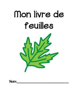 Mon livre de feuilles/French Immersion Leaf Scrapbook (autumn)