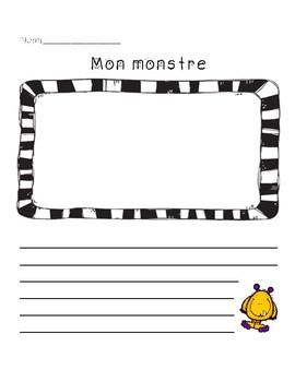 Mon monstre : Dessin et production écrite