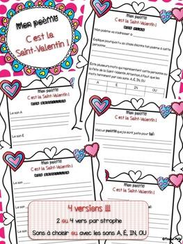 Mon Poème Cest La Saint Valentin