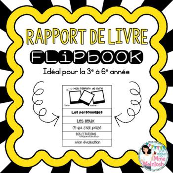 Mon rapport de livre - Book Report Flip-Book - Grades 3-6