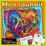 Arts plastiques: Mon souhait du Nouvel An, projet médiatique, en français