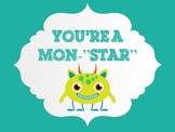 """Mon-""""star"""" Themed Behavior Chart"""