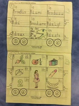 Mon train du D - FRENCH - Phonic Student Work Booklet - Grade 1