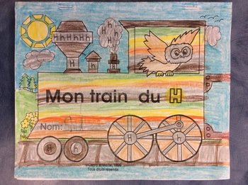 Mon train du H - FRENCH - Phonic Student Work Booklet - Grade 1