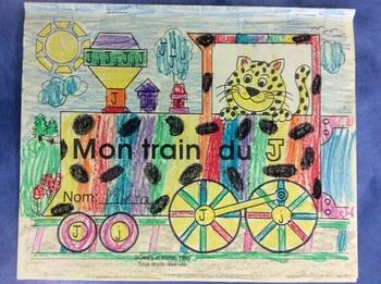 Mon train du J - FRENCH - Phonic Student Work Booklet - Grade 1
