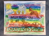 Mon train du K et Q - FRENCH - Phonic Student Work Booklet - Grade 1