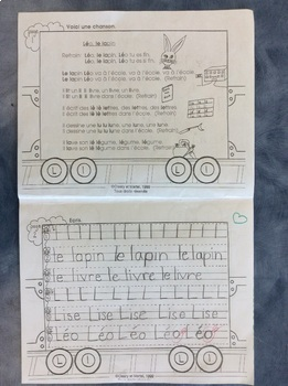 Mon train du L - FRENCH- Phonic student Work Booklet - Grade 1