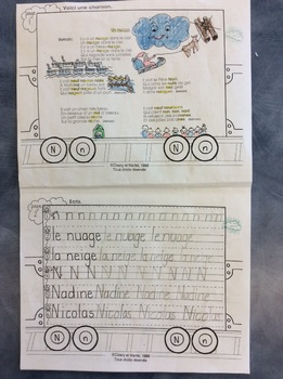 Mon train du N - FRENCH - Phonic Student Work booklet - Grade 1