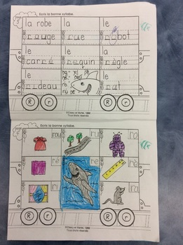 Mon train du R - FRENCH - Phonic Student Work Booklet - Grade 1