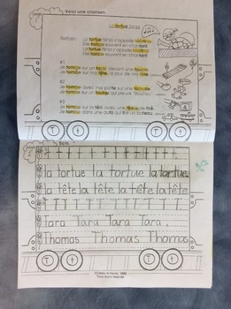 Mon train du T - FRENCH - Phonic Student Work Booklet- Grade 1