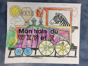 Mon train du W, X, Y et Z - FRENCH - Phonic Student Work Booklet - Grade 1