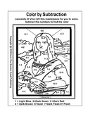 Mona Lisa - Color by Number - Subtraction Gr Pre-K-2nd Gr
