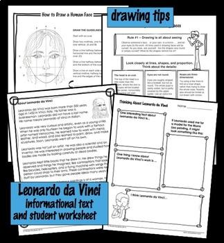 Art Lesson - Mona Lisa Observation and Self-Portrait