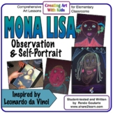 Art Lesson Mona Lisa Observation and Self-Portrait