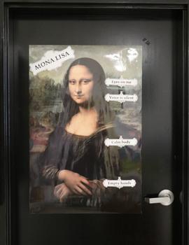 Mona Lisa Poster Labels