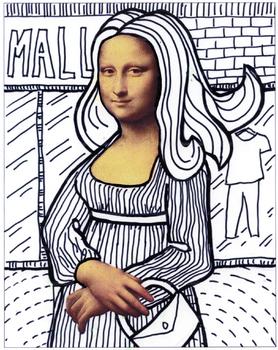 Mona Lisa Line Art Project