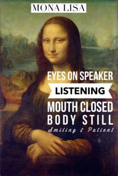 Mona Lisa Listening Poster