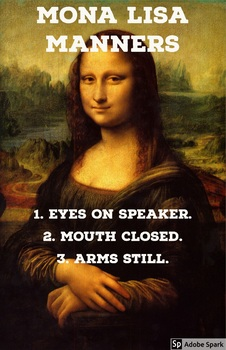 Mona Lisa Manners Poster