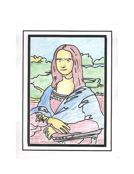 Mona Lisa Color by Number Metric System