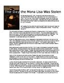 Mona Lisa Reading and Response Activity
