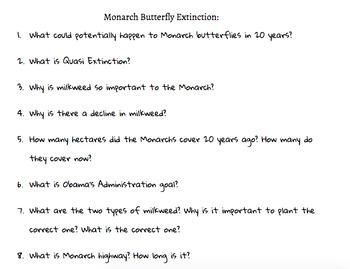 Monarch Butterflies Extinction