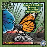 Monarch Butterfly - 15 Zoo Wild Resources - Leveled Reading, Slides & Activities