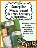 Monarch Butterfly Caterpillar Centers Activity in SPANISH
