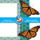 Monarch Butterfly Clip Art — Backgrounds, Page Frames & Butterfly