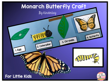 Monarch Butterfly Craft And Life Cycle By Kinderkay Tpt