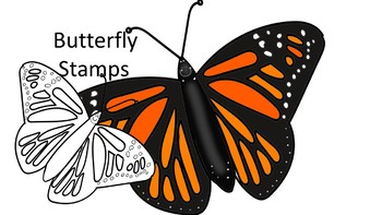 Monarch Butterfly Digital Stamp