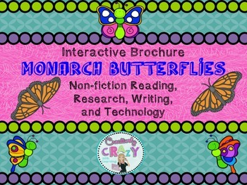 Monarch Butterfly Interactive Brochure, Research, Writing,