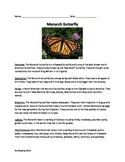 Monarch Butterfly Lesson - Review Article Questions Vocabulary Wordsearch