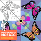 Monarch Butterfly Collaborative Coloring Sheets - Spring A