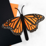 Monarch Butterfly Stick Puppet