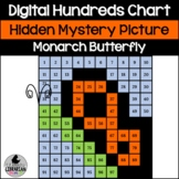 Monarch-like Butterfly Hundreds Chart Picture Activity for Spring Summer Math
